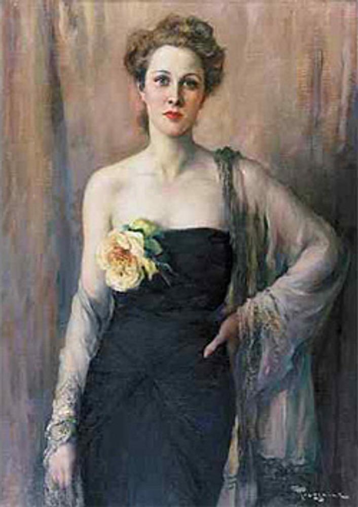 Фото. Fernand Toussaint. Портрет женщины в вечернем платье.