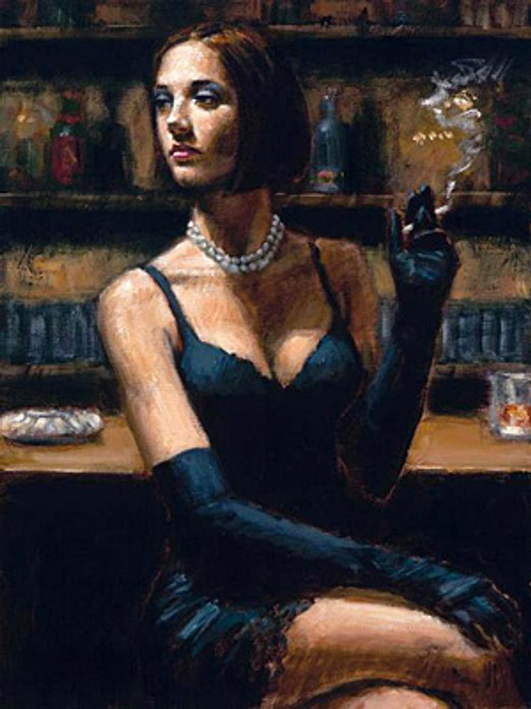 Фото. Фабиан Перез (Fabian Perez). Brunette at The bar.