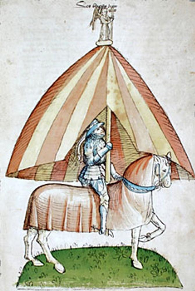 """1415 г. Папский """"зонт"""". Миниатюра из Хроники Ульриха фон Рихенталя. 1464 г."""