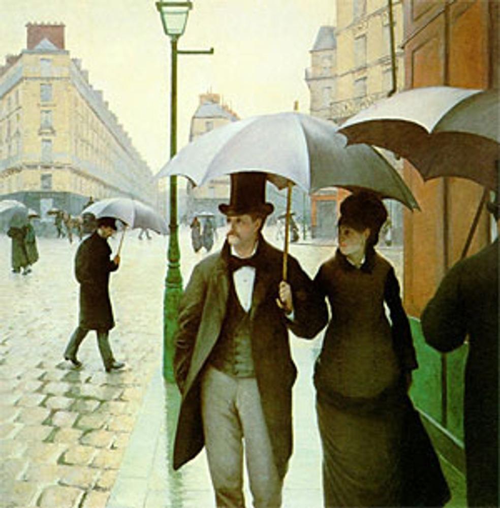"""Гюстав Кайботт """"Площадь Европы в дождливый день"""", 1877."""