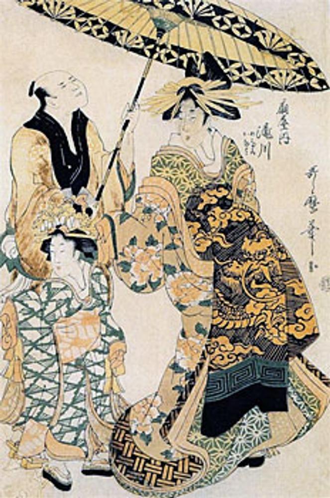 "Китагава Утамаро II. (?- 1831). ""Такигава III из дома Огия""."
