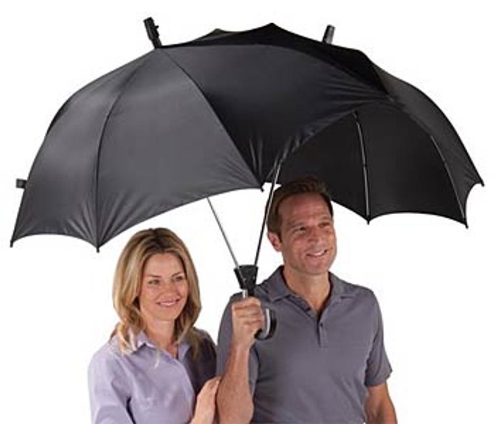 Фото14. Двойной зонт теперь самая обычная вещь. Кстати - очень удобная!.