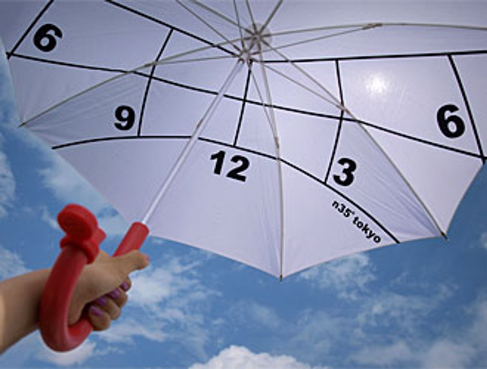 Фото 10. Зонт-солнечные часы от японского дизайнера Kota Nezu.