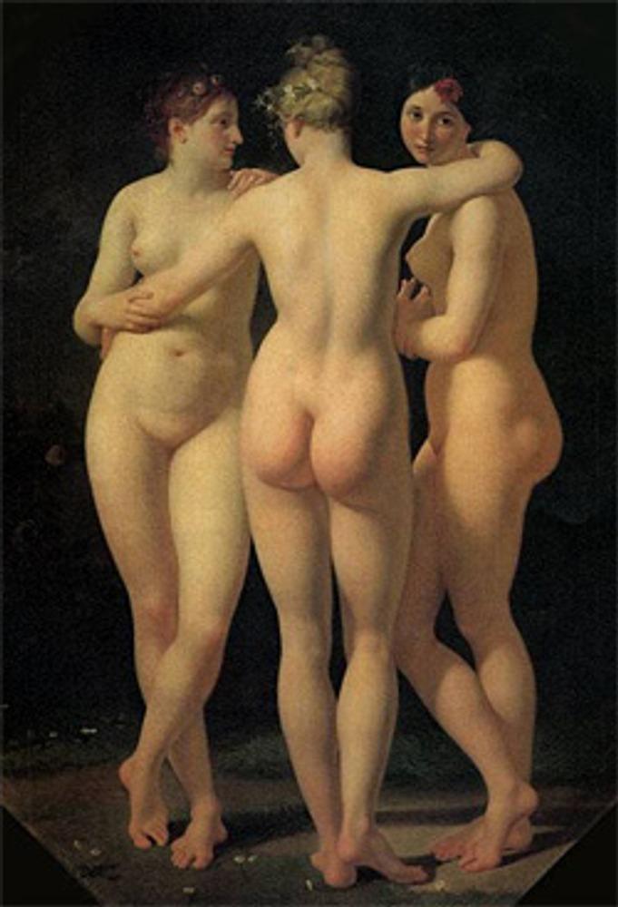 """Фото. """"Три грации"""". Жан-Батист Реньо, 1793 u., Париж, Лувр."""
