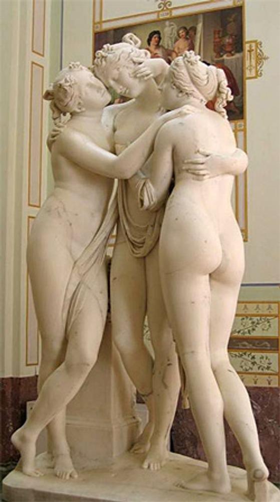 "Фото. ""Три грации"". А. Канова (Италия), 1813 - 1816 гг., Санкт-Петербург, Эрмитаж."