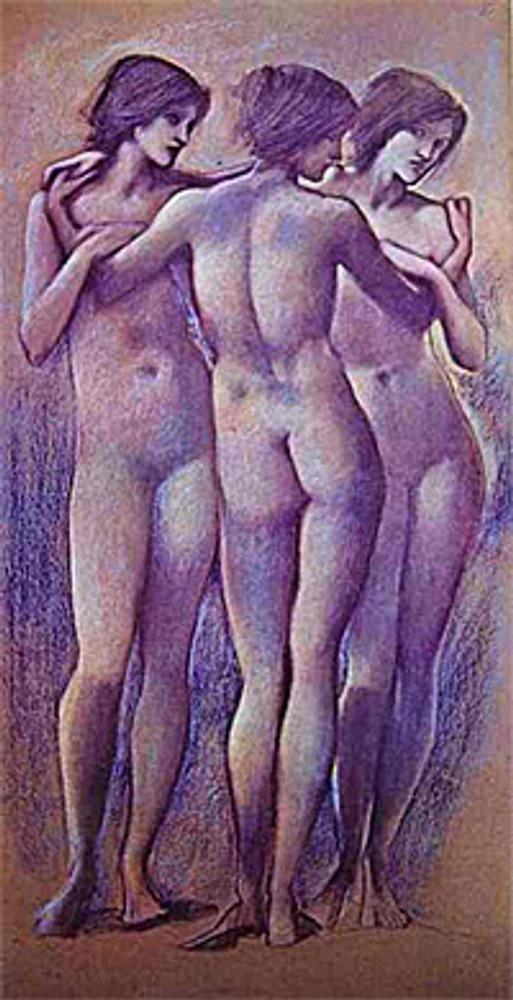 """Фото. """"Три грации"""". Эдвард Берн-Джонс (Великобритания), 1890-1896"""