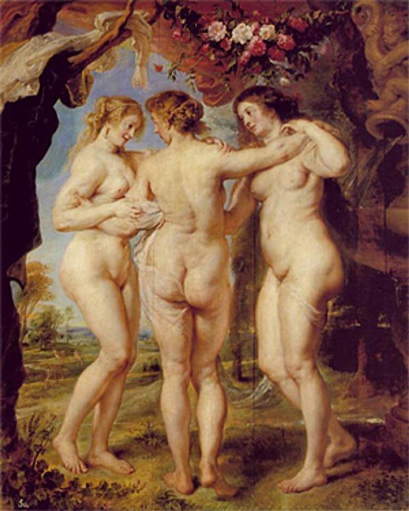 "Фото. ""Три грации"". Питер Пауль Рубенс, ок. 1640 г., Мадрид, музей Прадо."