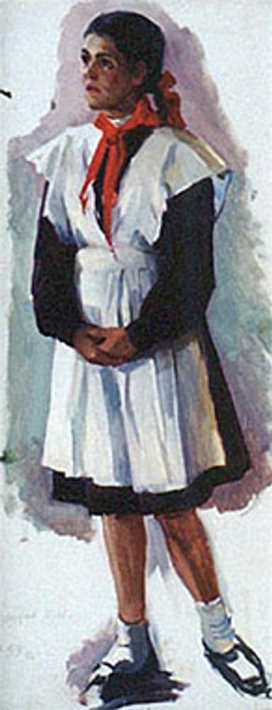 """И. Аристов """"Пионерка"""", 1958 г."""