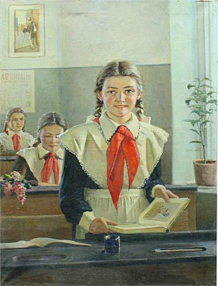 """Ю. Ляхов """"Пионерка"""", 1950 г."""