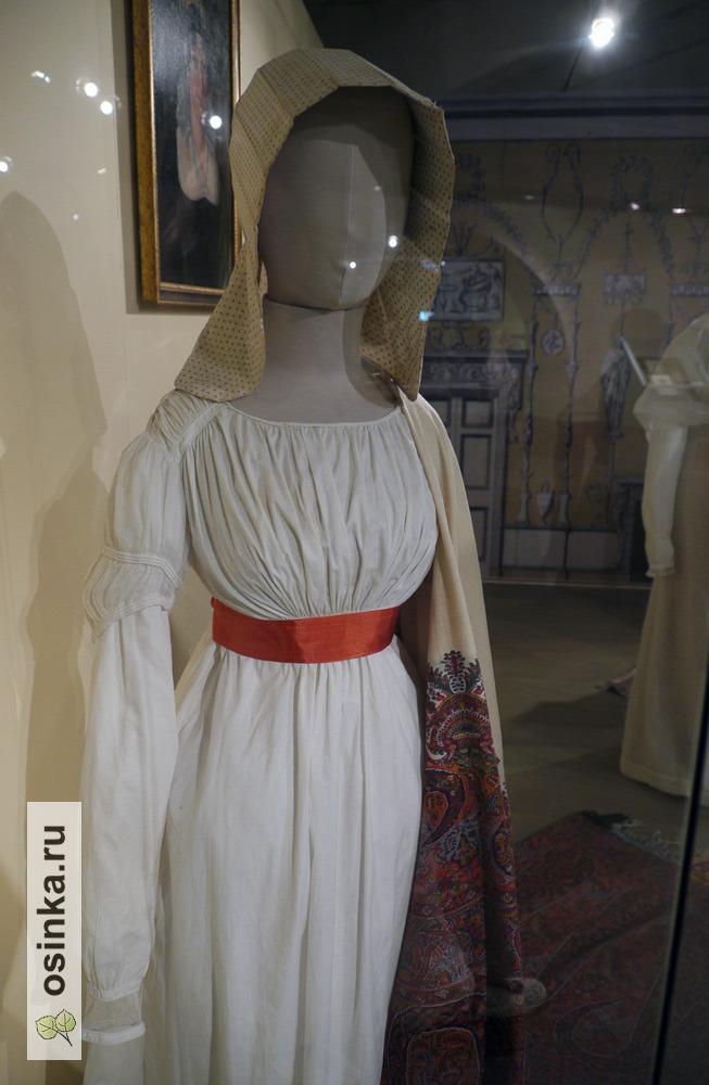 Фото. Платье дамское, х/б ткань, Россия, 1810-е гг.