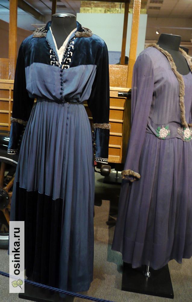 Фото. Платье дамское , бархат, стеклярус, шелк, мех, 1910-е гг.