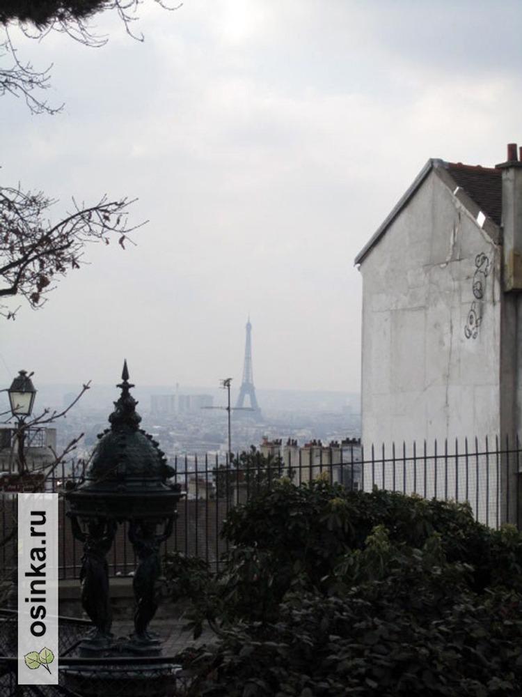 Фото. Париж, вид с площади собора Сакре-Кёр, самая высокая точка города.