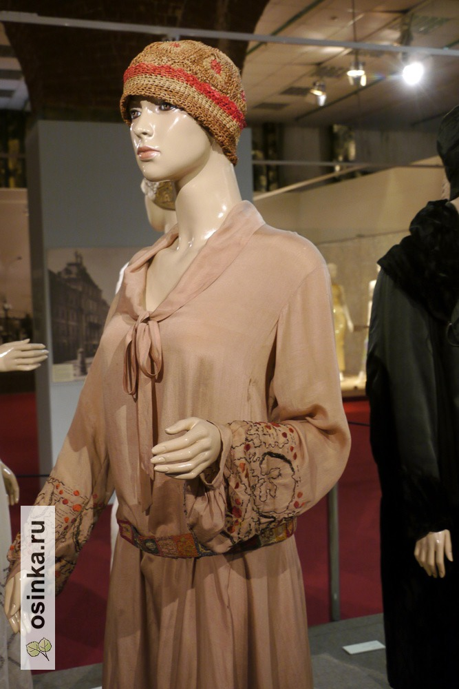 Фото. Платье нарядное , шелк, вышивка. СССР, 1926 г.
