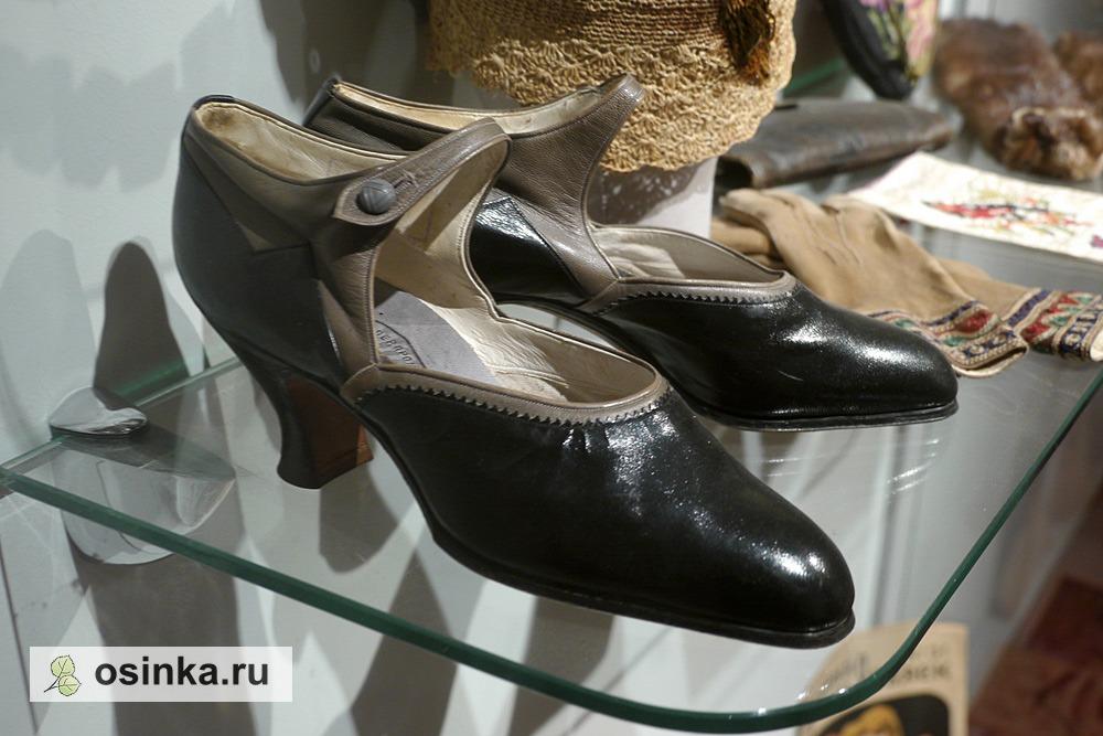 "Фото. Туфли дамские , кожа, изделие Товарищества ""Баумкредит"", Москва, 1928 г."