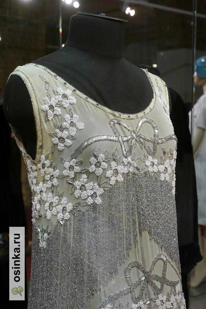 Фото. Платье дамское , шифон, бисер, стеклярус. СССР, 1920-е г.