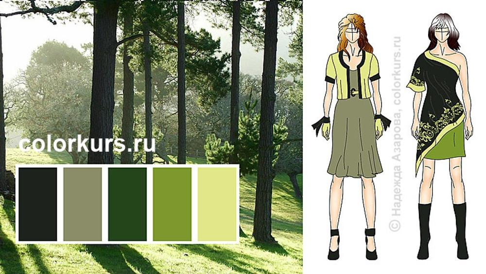 Фото. Независимая позиция. Черно-зеленый и серый хаки образует с зелеными нотами уникальный цветовый аккорд, который по-настоящему оценят натуры с позицией независимого наблюдателя по жизни.