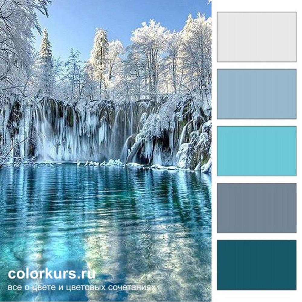 Фото. Плитвицкие озера в Хорватии обладают исключительной красотой! Ими можно любоваться в любое время года. Здесь на фото озера заморожены и дарят нам освежающую бирюзовую гамму.