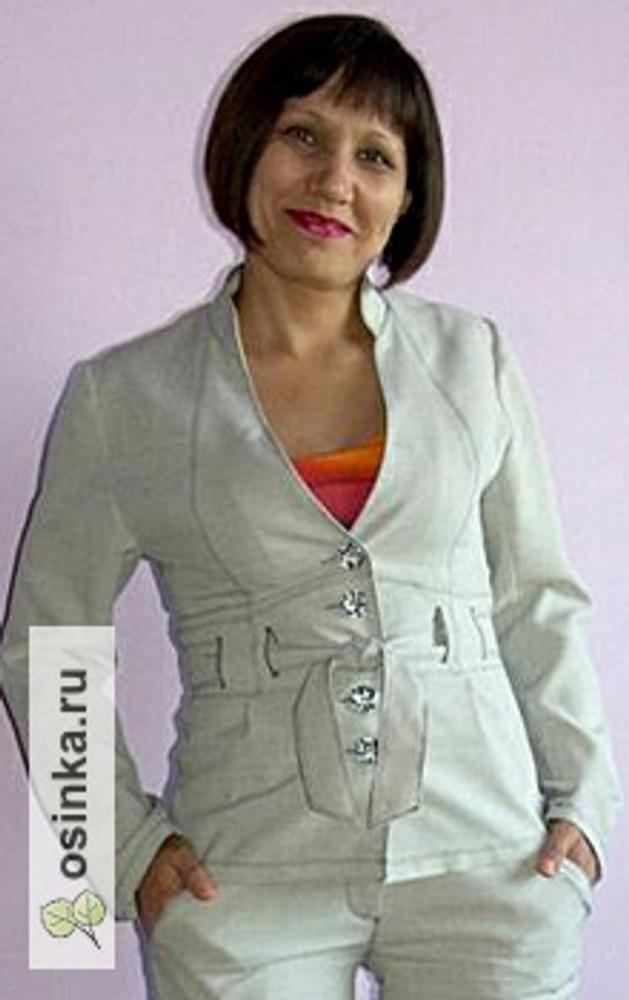 Фото. Легкий жакет из льна в комплекте с брюками. Автор: Гуля36 .