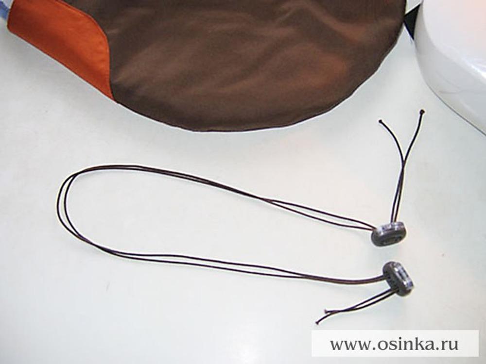 32. В данном случае используется резиновый шнур в 2 сложения, так как в 1 он сильно тонкий.