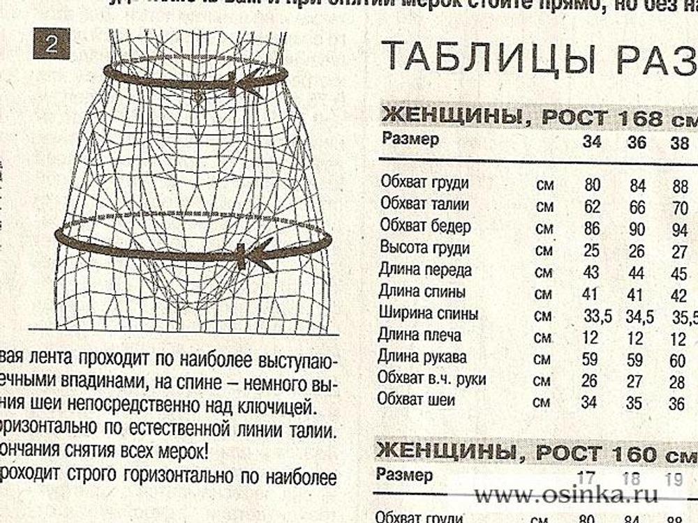03. Пока ткань сохнет, можно снять мерки и выкройку. Для брюк необходимы мерки: обхват талии, обхват бёдер и желаемая длина брюк. По таблице размеров в журнале, можно легко узнать, какой размер выкройки вам нужно снять. Естественно, раз шьются брюки, то и размер определяется по обхвату бёдер.