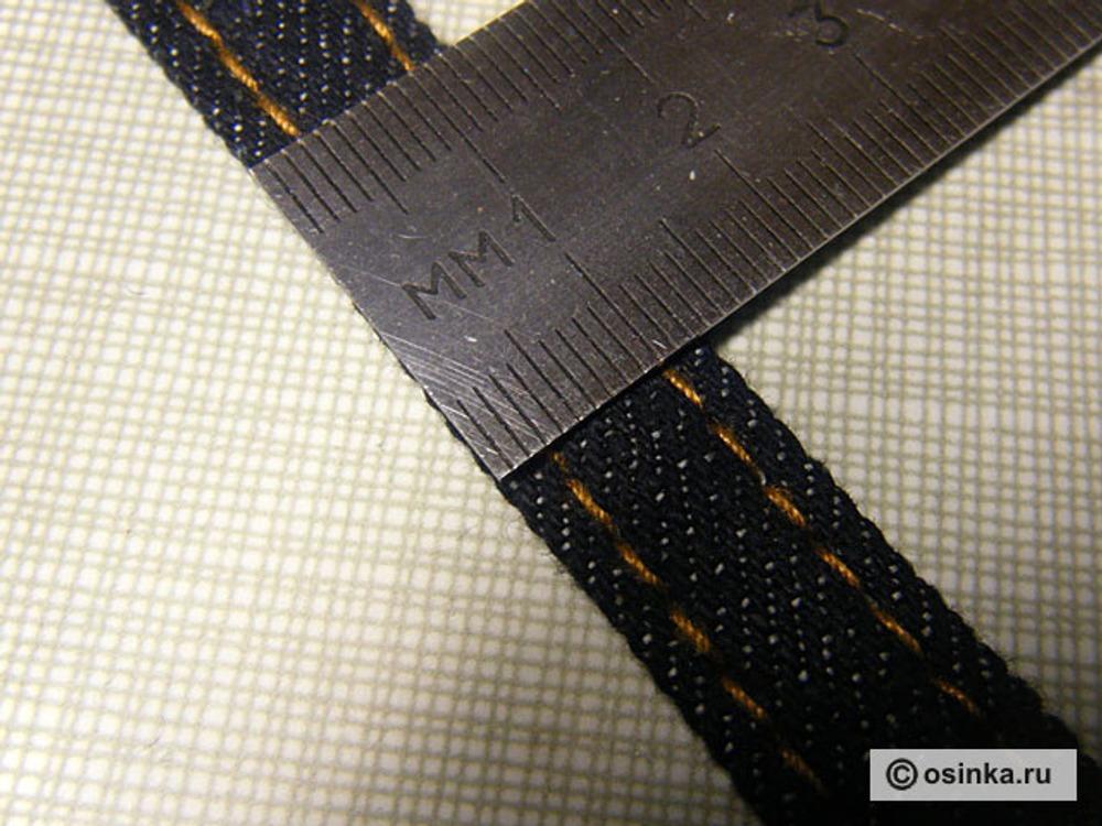 06. Отстрачиваем по лицу толстыми нитками для отстрочки, от краёв на 3 мм. (длина стежка 4-5мм)