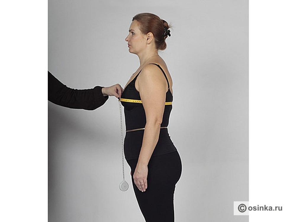 08. СгЗ - полуобхват груди третий. Сантиметровая лента проходит горизонтально, через выступающие точки груди без учета выступа лопаток. Величина этой мерки определяет размер фигуры.