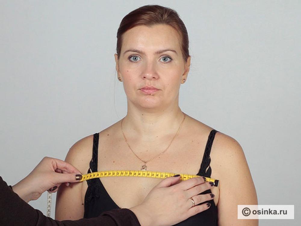 11. Шг1 - ширина груди первая. Измеряют горизонтально над основанием грудных желез между углами подмышечных впадин.