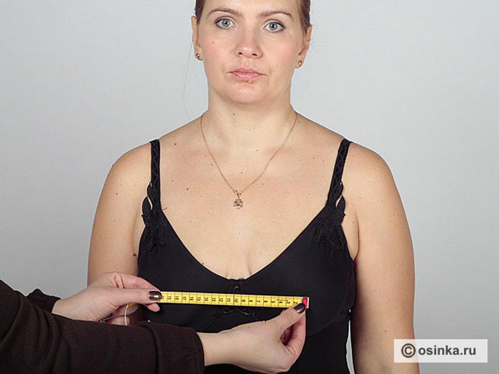 20. Цг - центр груди. Эта мерка - расстояние между выступающими точками груди по горизонтали.