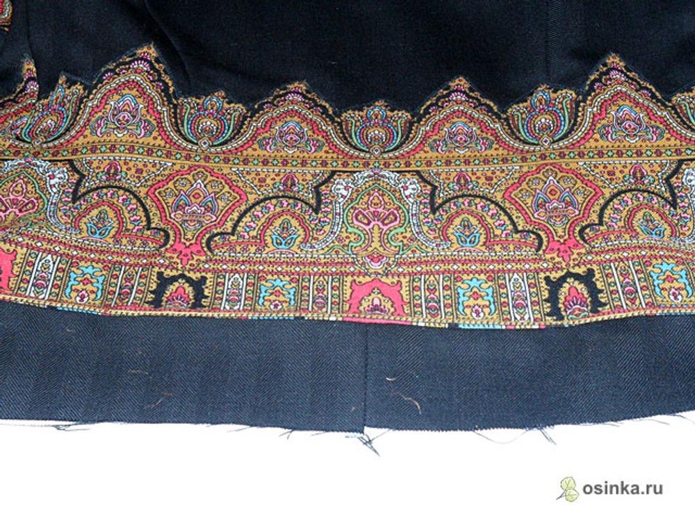 14. Нижний край жакета и рукава обрабатываем обтачкой, выкроенной из основной ткани.
