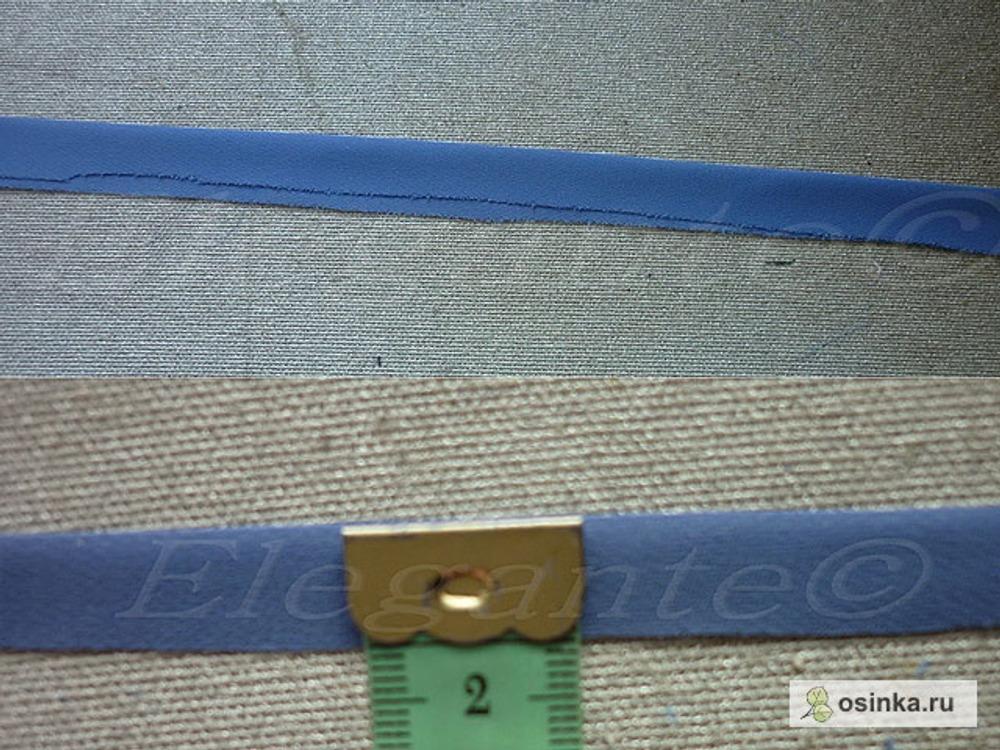 05. Осноровить до ширины 1-1,25см (чем тоньше ткань, тем уже заготовка для обтачки)
