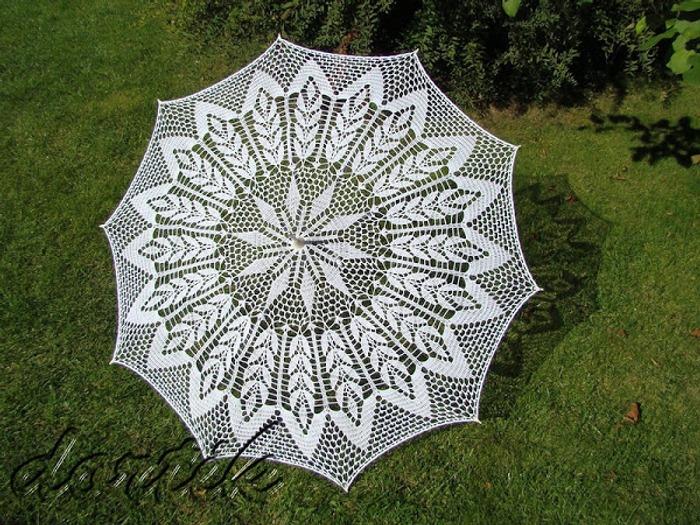 Фото. Как-то увидела вязаный зонтик и пропала 😃, теперь, наконец-то моя мечта осуществилась.