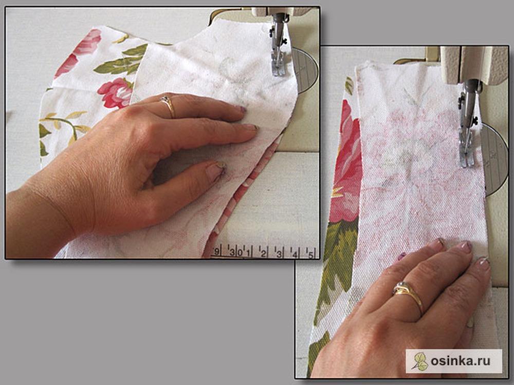 26. Сшиваю все вертикальные рельефы переда и спинки припуском шва 1,2 см.