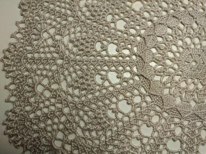 "Фото. Салфетка ""Amazing"" из книги Patricia Kristoffersen ""Wonderful doilies"". Нитки ""50g Ball Art Silke Thread Yarn Crochet Hand Knitring Lace Cotton Crochet"" 31г, кр.1.25, Ø31 см. Автор работы - annna66"