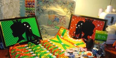 мама Юся отправляла посылку для Alexis13 : коврик для швейной техники и органайзеры для бантов, заколок и резинок