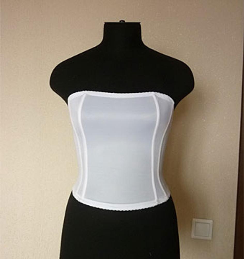 Обработка корсета в платье