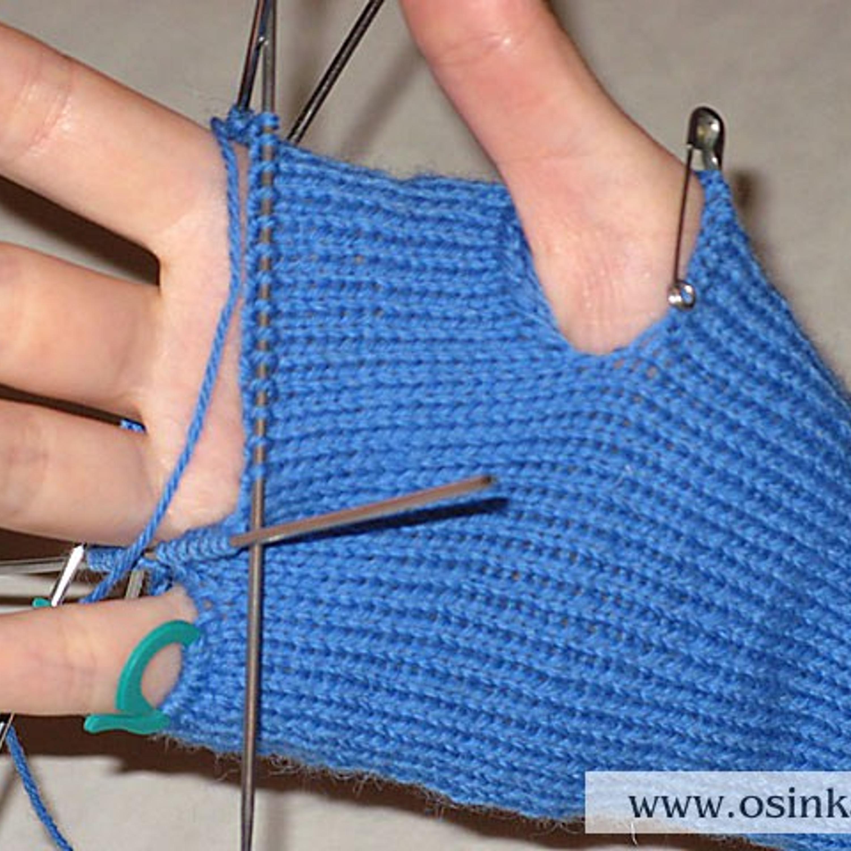 Перевести вязание на 4 спицы