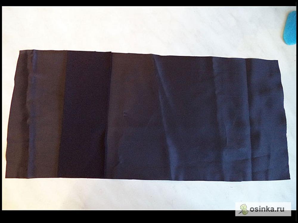 17. Мешковина – прямоугольник из подкладочной ткани, длина – 35-45 см; ширина – равна длине подзора. У меня 35х19 см.