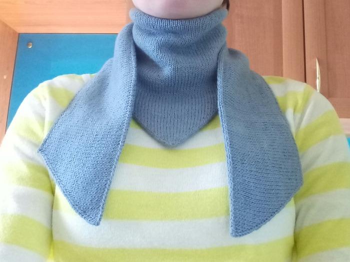 Фото. Вот такой двухслойный шарф придумался. Автор работы - Elysa