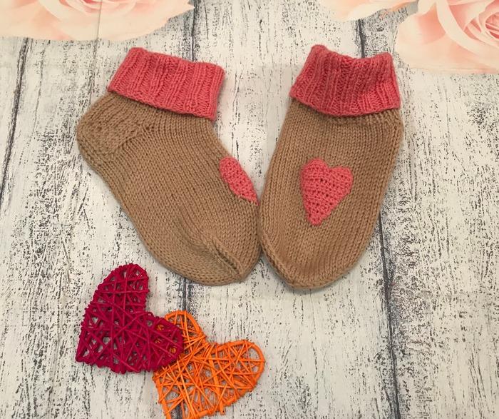 Фото. Сердечные носочки. Автор работы - Violinka1707