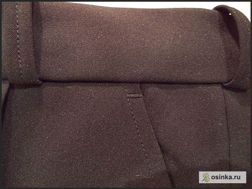 88. У входов в передние карманы вверху ставлю закрепки.