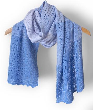 Фото. Новый ажурный шарфик. Автор работы - Svero