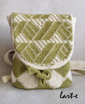 Фото. Рюкзачок - тунисское вязание. Автор работы - larissaherisson