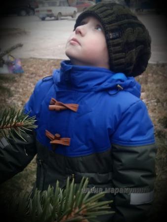 Фото. Куртка для сына из остатков мембраны.  Автор работы - Елена весенняя