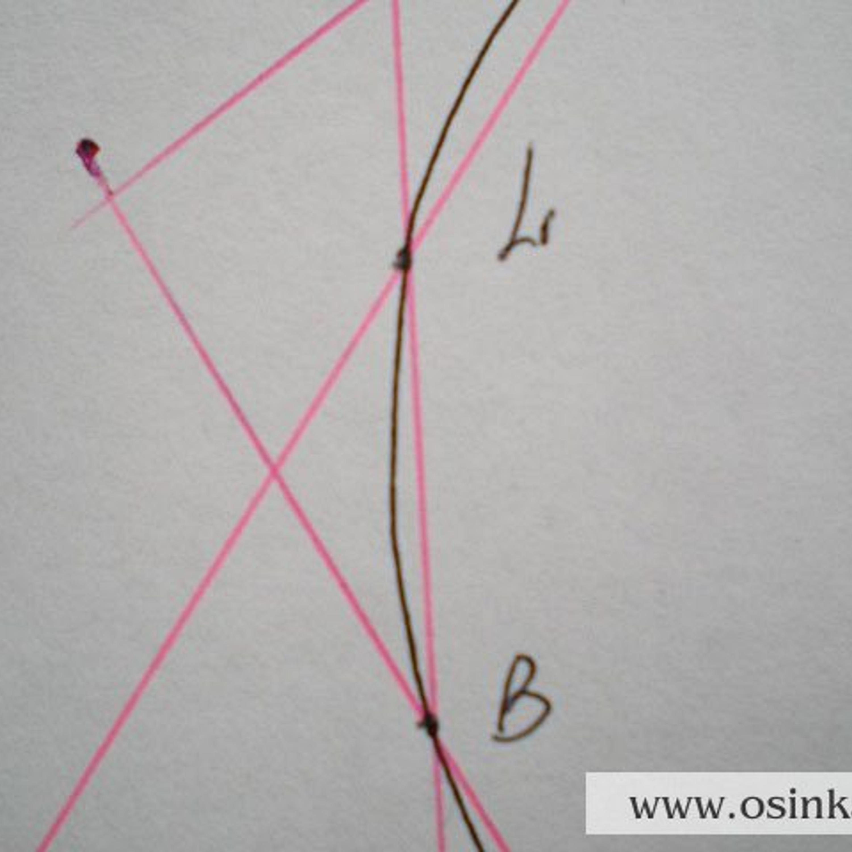 4 участок – прямая BL = 2,2 см х 4 р. = 8,8 р. ~ 9 р. Провязываем 9 рядов без изменений.