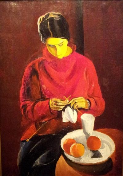 """Фото. Моис Кислинг. """"Женщина к красном свитере""""."""