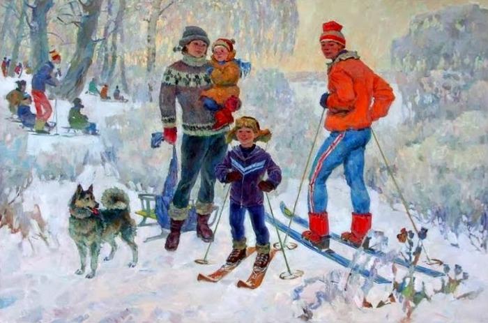 """Фото. Ягодкин Г.Н. """"Семья"""", 1952."""