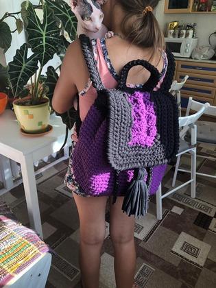 Фото. Яркий рюкзачок для дочки. Автор - lenochka_malova