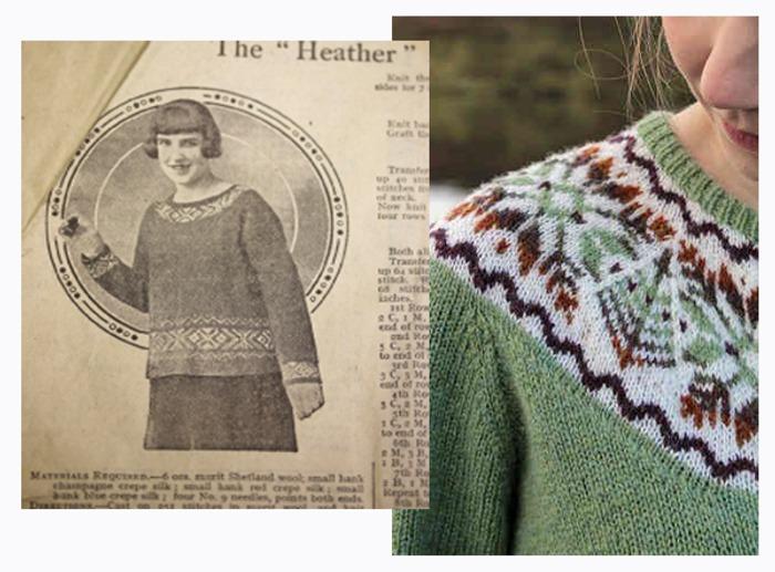"Фото. Приложение ""New Fair Isle Design"", 1928 г. Молодежная туника ""Heather""."