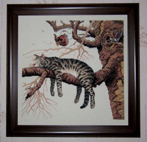 Фото. А этот кот, говорят, нормализует давление. Автор работы - Мама Малина