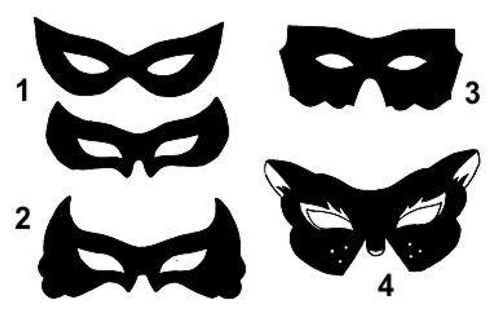 Скачать выкройки масок в натуральную величину (zp-архив) .